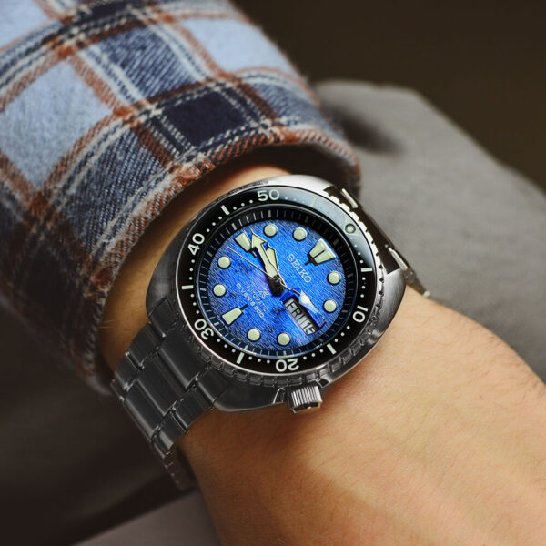 Мужские наручные часы SEIKO Prospex King Turtle Save the Ocean Manta Ray SRPE39K1 - Фото № 7