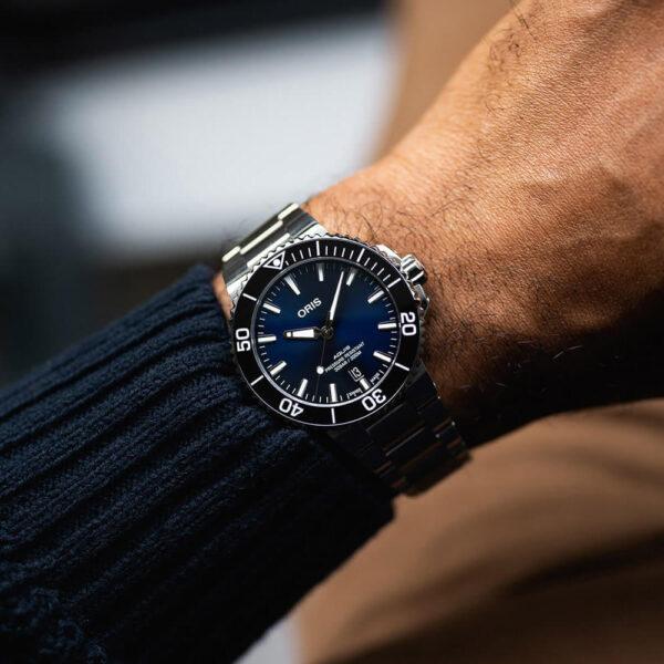 Мужские наручные часы ORIS AQUIS 01 733 7766 4135-07 8 22 05PEB - Фото № 8