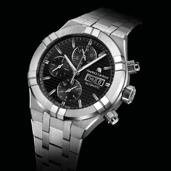 Мужские наручные часы MAURICE LACROIX Aikon Automatic Chronograph AI6038-SS002-330-2 - Фото № 10