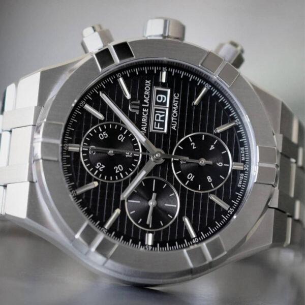 Мужские наручные часы MAURICE LACROIX Aikon Automatic Chronograph AI6038-SS002-330-2 - Фото № 9