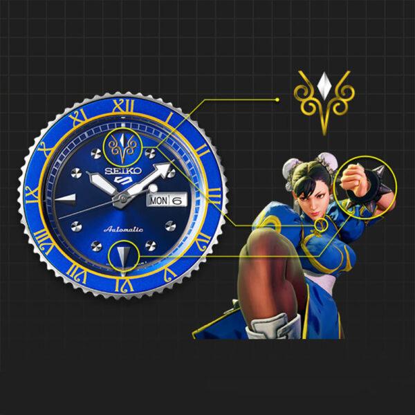 Мужские наручные часы SEIKO Seiko 5 x STREET FIGHTER V Chun-Li Limited Edition SRPF17K1 - Фото № 7