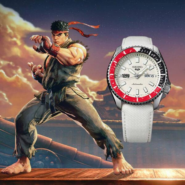 Мужские наручные часы SEIKO Seiko 5 x STREET FIGHTER V Ryu Limited Edition SRPF19K1 - Фото № 7