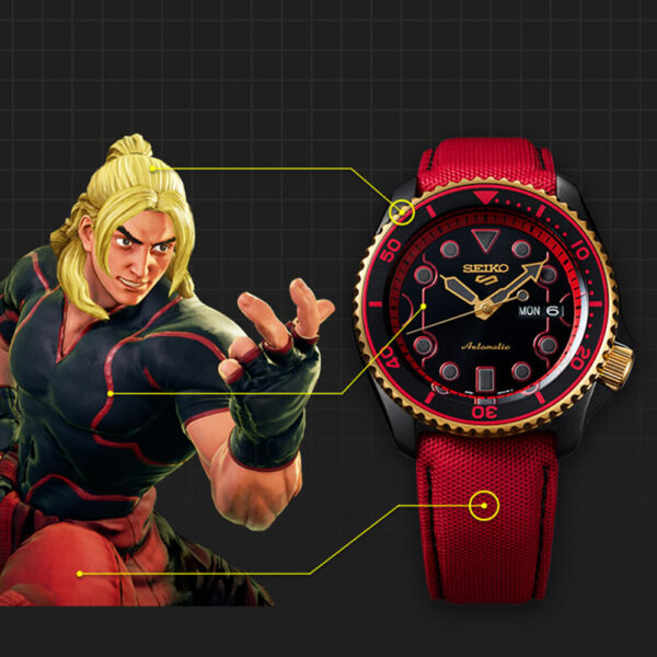 Мужские наручные часы SEIKO Seiko 5 x STREET FIGHTER V Ken Limited Edition SRPF20K1 - Фото № 18