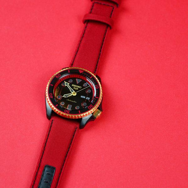 Мужские наручные часы SEIKO Seiko 5 x STREET FIGHTER V Ken Limited Edition SRPF20K1 - Фото № 15