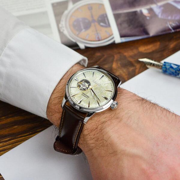 Мужские наручные часы SEIKO Presage Cocktail Time Star Bar Honeycomb Limited Edition SSA409J1 - Фото № 13