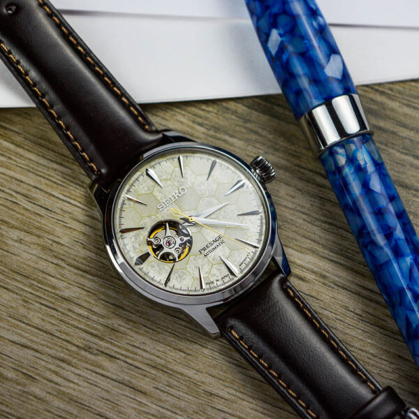 Мужские наручные часы SEIKO Presage Cocktail Time Star Bar Honeycomb Limited Edition SSA409J1 - Фото № 14