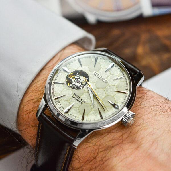 Мужские наручные часы SEIKO Presage Cocktail Time Star Bar Honeycomb Limited Edition SSA409J1 - Фото № 16
