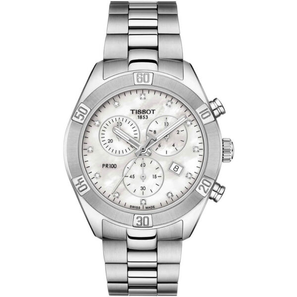 Женские наручные часы TISSOT PR 100 Sport Chic Chronograph T101.917.11.116.00 - Фото № 5