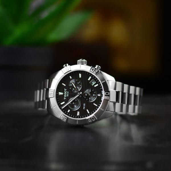Мужские наручные часы TISSOT PR 100 Sport Gent Chronograph T101.617.11.051.00 - Фото № 10