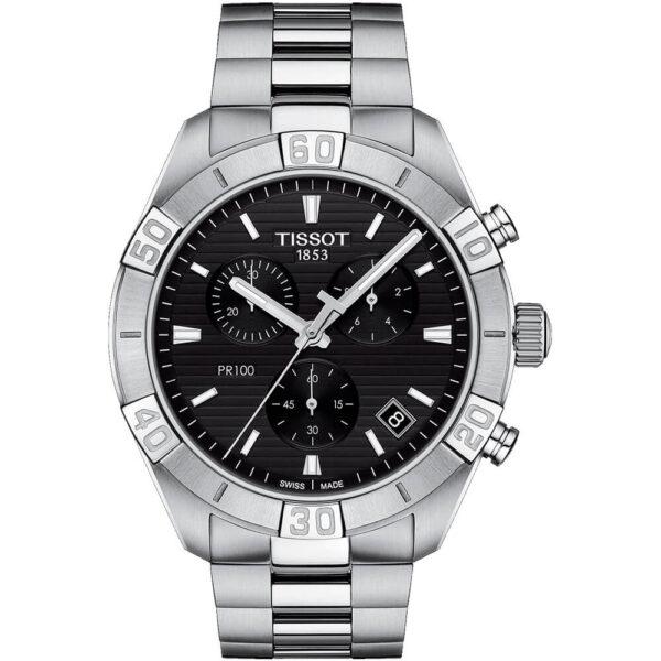 Мужские наручные часы TISSOT PR 100 Sport Gent Chronograph T101.617.11.051.00 - Фото № 6