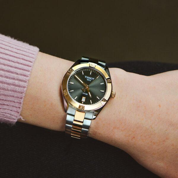 Женские наручные часы TISSOT PR 100 Sport Chic T101.910.22.061.00 - Фото № 6