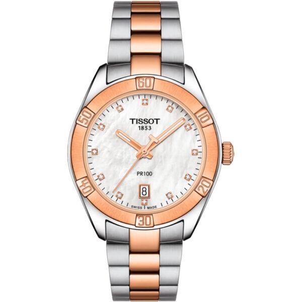 Женские наручные часы TISSOT PR 100 Sport Chic T101.910.22.116.00 - Фото № 4