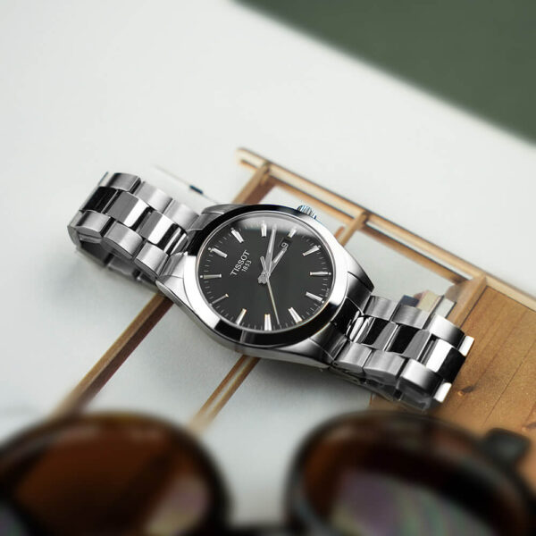 Мужские наручные часы TISSOT Gentleman T127.410.11.051.00 - Фото № 9
