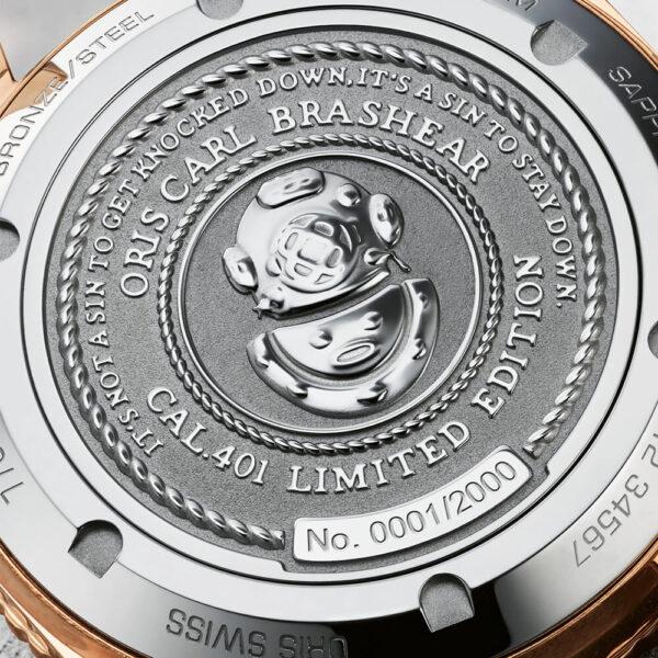 Мужские наручные часы ORIS DIVERS CARL BRASHEAR CALIBRE 401 LIMITED EDITION 01 401 7764 3185-Set - Фото № 12