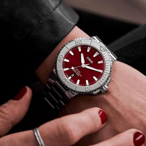 Мужские наручные часы ORIS AQUIS 01 733 7766 4158-07 8 22 05PEB - Фото № 7