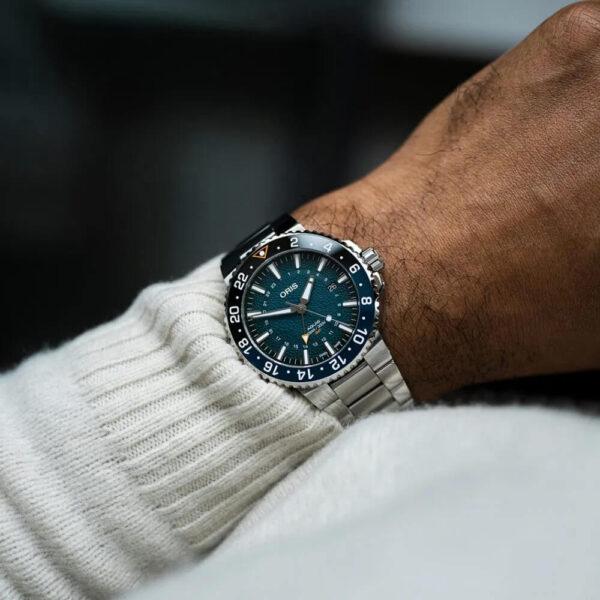 Мужские наручные часы ORIS AQUIS WHALE SHARK LIMITED EDITION 01 798 7754 4175-Set - Фото № 11