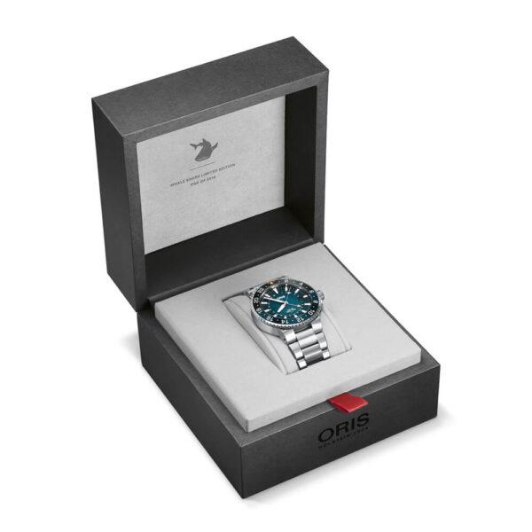 Мужские наручные часы ORIS AQUIS WHALE SHARK LIMITED EDITION 01 798 7754 4175-Set - Фото № 13