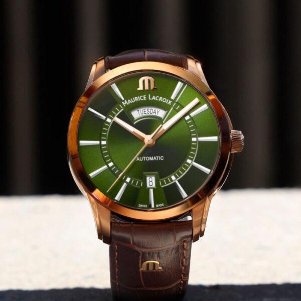 Мужские наручные часы MAURICE LACROIX Pontos PT6358-BRZ01-63E-3 - Фото № 9