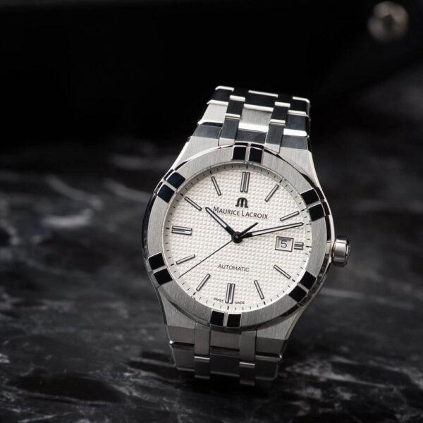 Мужские наручные часы MAURICE LACROIX Aikon Automatic AI6008-SS002-130-1 - Фото № 9