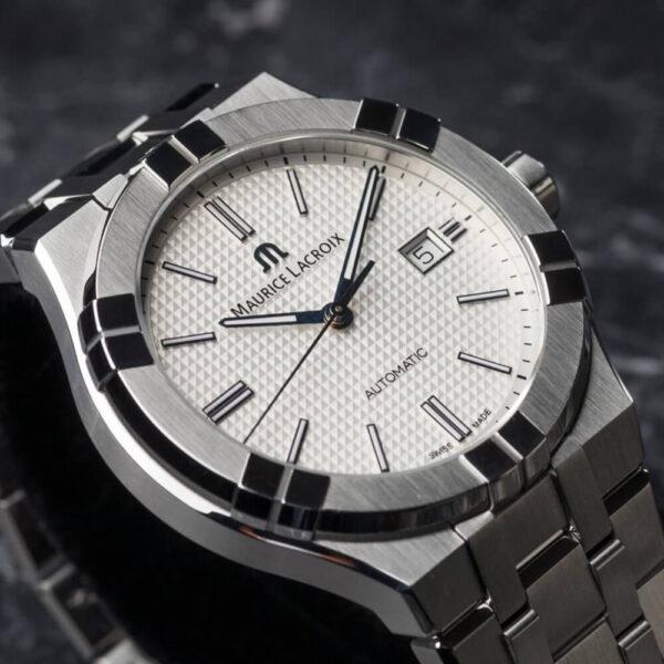 Мужские наручные часы MAURICE LACROIX Aikon Automatic AI6008-SS002-130-1 - Фото № 7