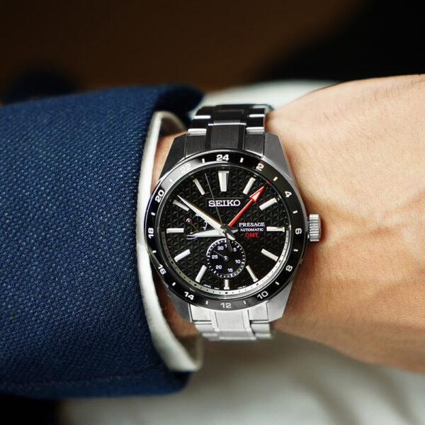Мужские наручные часы SEIKO Presage Sharp Edged GMT Sumi-iro SPB221J1 - Фото № 8