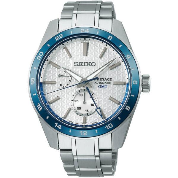 Мужские наручные часы SEIKO Presage Sharp Edged GMT 140th Anniversary Limited Edition SPB223J1 - Фото № 4