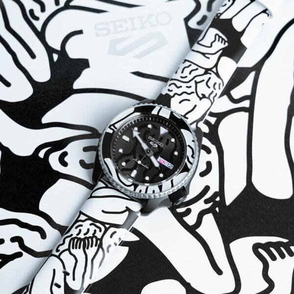 Мужские наручные часы SEIKO Seiko 5 Sports x AUTO MOAI SRPG43K1 Limited Edition - Фото № 14