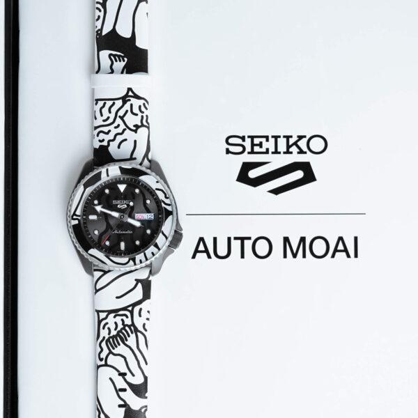 Мужские наручные часы SEIKO Seiko 5 Sports x AUTO MOAI SRPG43K1 Limited Edition - Фото № 12