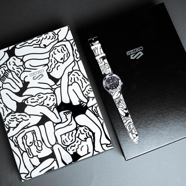 Мужские наручные часы SEIKO Seiko 5 Sports x AUTO MOAI SRPG43K1 Limited Edition - Фото № 11