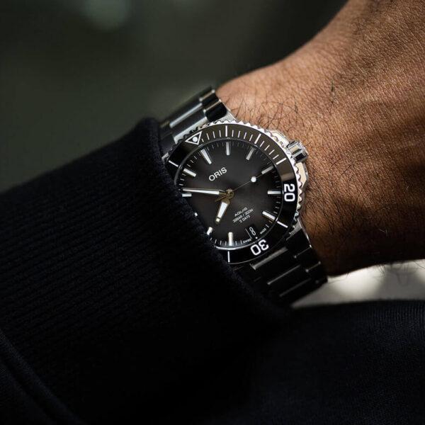 Мужские наручные часы ORIS AQUIS 01 400 7769 4154-07 8 22 09PEB - Фото № 9
