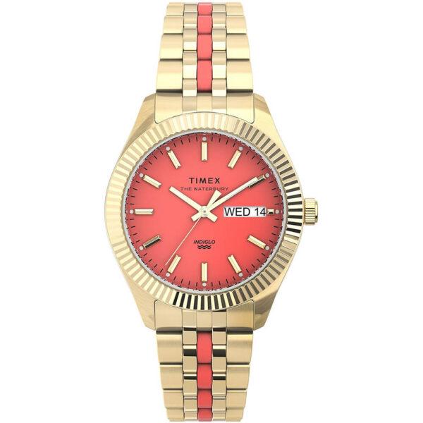 Женские наручные часы Timex WATERBURY Legacy Boyfriend Malibu Tx2u82700