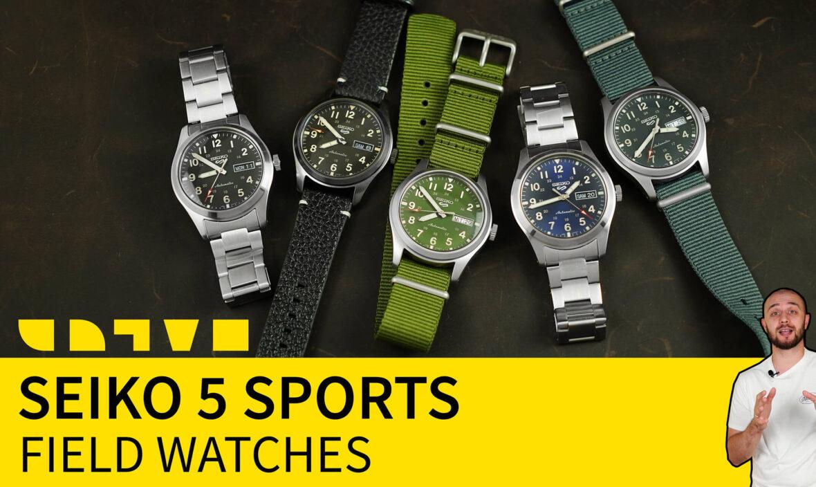 seiko 5 sports field watches SRPG33K1 SRPG31K1